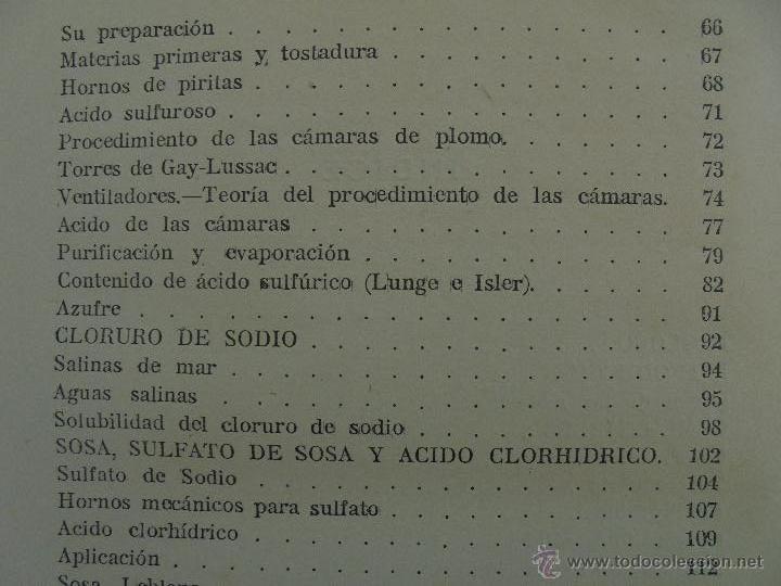 Libros antiguos: TRATADO DE QUIMICA INDUSTRIAL. H.OST. TR. FELIPE VILLAVERDE-EUGENIO FERRER DALMAU. VER FOTOGRAFIAS. - Foto 22 - 53095397