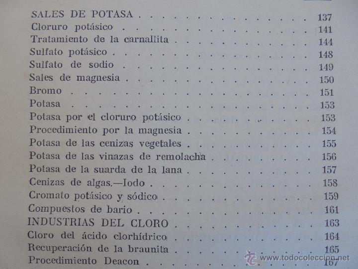 Libros antiguos: TRATADO DE QUIMICA INDUSTRIAL. H.OST. TR. FELIPE VILLAVERDE-EUGENIO FERRER DALMAU. VER FOTOGRAFIAS. - Foto 24 - 53095397