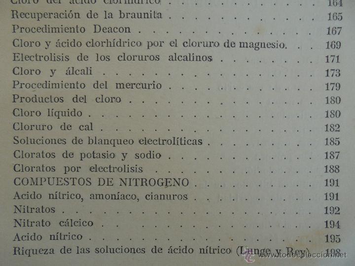 Libros antiguos: TRATADO DE QUIMICA INDUSTRIAL. H.OST. TR. FELIPE VILLAVERDE-EUGENIO FERRER DALMAU. VER FOTOGRAFIAS. - Foto 25 - 53095397