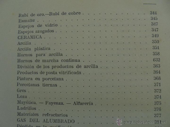 Libros antiguos: TRATADO DE QUIMICA INDUSTRIAL. H.OST. TR. FELIPE VILLAVERDE-EUGENIO FERRER DALMAU. VER FOTOGRAFIAS. - Foto 26 - 53095397