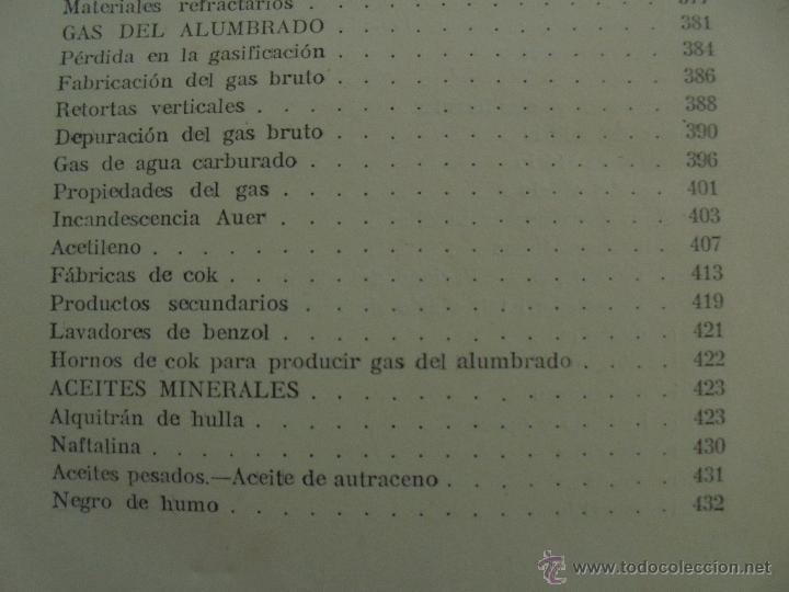 Libros antiguos: TRATADO DE QUIMICA INDUSTRIAL. H.OST. TR. FELIPE VILLAVERDE-EUGENIO FERRER DALMAU. VER FOTOGRAFIAS. - Foto 27 - 53095397