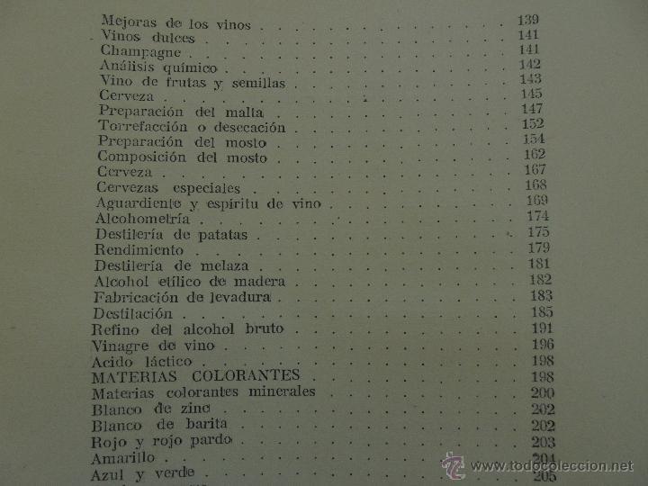 Libros antiguos: TRATADO DE QUIMICA INDUSTRIAL. H.OST. TR. FELIPE VILLAVERDE-EUGENIO FERRER DALMAU. VER FOTOGRAFIAS. - Foto 45 - 53095397
