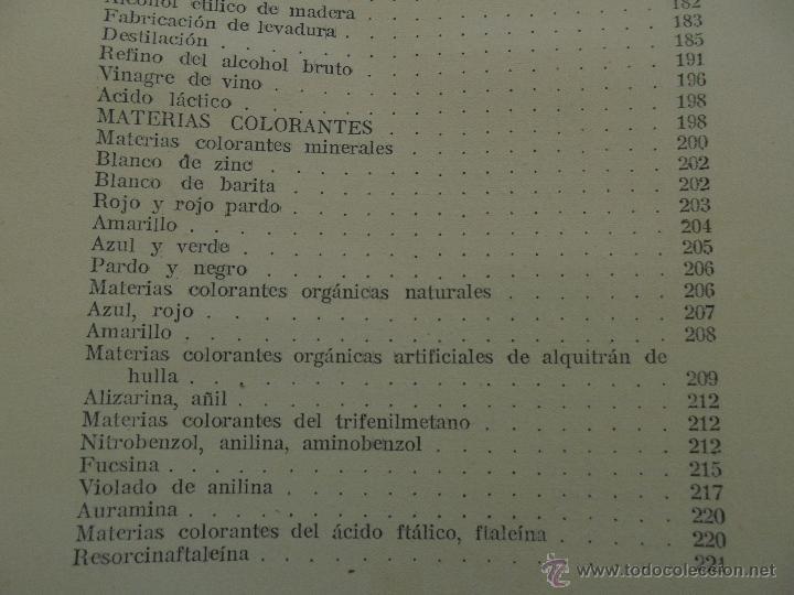 Libros antiguos: TRATADO DE QUIMICA INDUSTRIAL. H.OST. TR. FELIPE VILLAVERDE-EUGENIO FERRER DALMAU. VER FOTOGRAFIAS. - Foto 46 - 53095397