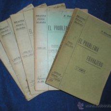 Libros antiguos: RICALDONE, P: EL PROBLEMA FORRAJERO. BIBL. AGRARIA SOLARIANA. 1ª Y 2ª PARTE. 6 VOLS. 1905-10. Lote 53157340