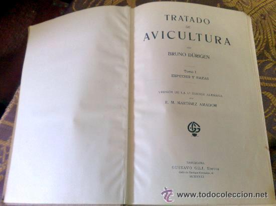 Libros antiguos: AÑO 1931.- GRAN LIBRO DE TRATADO DE AVICULTURA - Foto 5 - 28269709