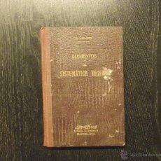 Libros antiguos: ELEMENTOS DE SISTEMATICA VEGETAL (CLAVES BOTANICAS), A. CABALLERO. Lote 53427215