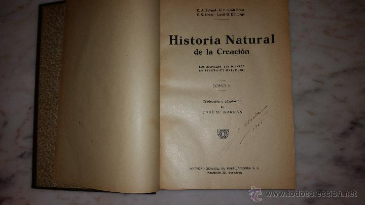 Libros antiguos: Historia natural de la creación. La tierra. El universo. - EALAND, C.A.; SCOTT ELLIOT, G.F.; GREW, E - Foto 2 - 53456332