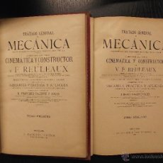 Libros antiguos: TRATADO GENERAL DE MECANICA, F. REULEAUX. Lote 53564263
