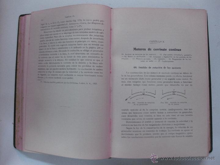 Libros antiguos: ELECTROTECNIA. A. THOMALEN. EDITORIAL LABOR 1924. - Foto 3 - 53584282