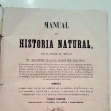 Libros antiguos: ANTIGUO MANUAL DE HISTORIA NATURAL, GALDO PEREDA, 1858. Lote 53828114