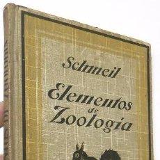 Libros antiguos: ELEMENTOS DE ZOOLOGÍA - OTTO SCHMEIL. Lote 54338062