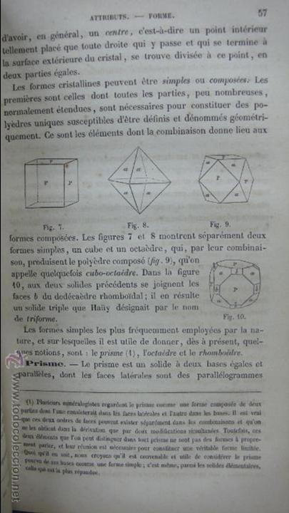 Libros antiguos: COURS DE MINÉRALOGIE (HISTOIRE NATURELLE). A. LEYMERIE. 2 VOL. 1867. - Foto 3 - 54347648