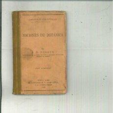 Libros antiguos: NOCIONES DE BOTÁNICA. J. D. HOOKER. Lote 54393183