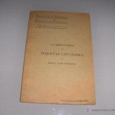 Libros antiguos: ALUMINOTERMIAS CON PEQUEÑAS CANTIDADES 1915. Lote 54434922