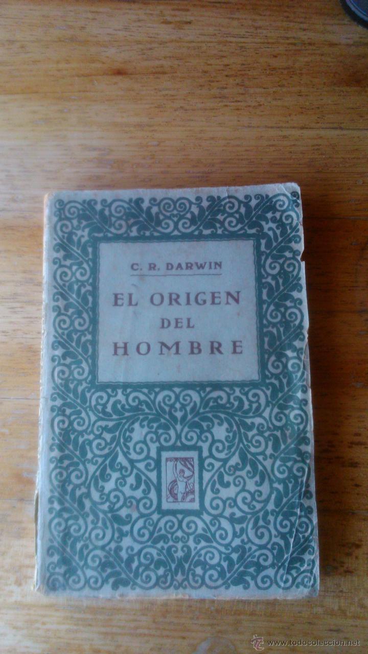 DARWIN EL ORIGEN DEL HOMBRE EDITORIAL PROMETEO (Libros Antiguos, Raros y Curiosos - Ciencias, Manuales y Oficios - Paleontología y Geología)