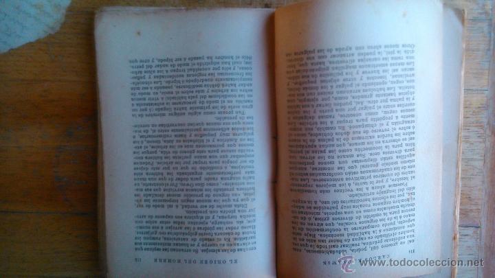 Libros antiguos: DARWIN EL ORIGEN DEL HOMBRE EDITORIAL PROMETEO - Foto 2 - 54475127