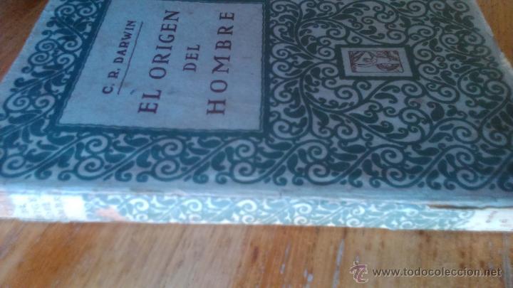Libros antiguos: DARWIN EL ORIGEN DEL HOMBRE EDITORIAL PROMETEO - Foto 4 - 54475127
