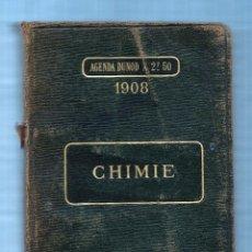 Libros antiguos: AGENDA DUNOD 1921 - CHIMIE - JAVET EMILE - FRANCES. Lote 54513075