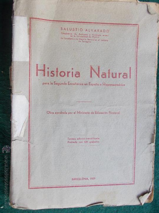 HISTORIA NATURAL (Libros Antiguos, Raros y Curiosos - Ciencias, Manuales y Oficios - Paleontología y Geología)
