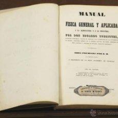 Libros antiguos: 7075 - MANUAL DE FISICA GENERAL Y APLICADA. E. RODRIGUEZ. EDI. LIB. LUÍS NIUBÓ. S/F.. Lote 52786212
