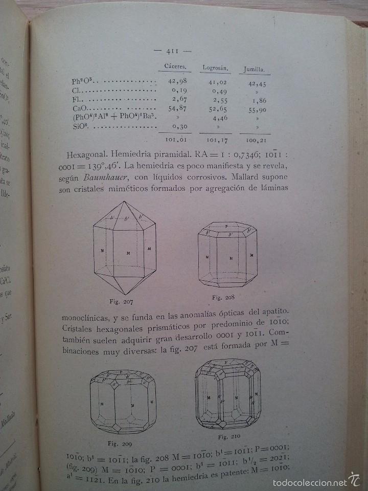 Libros antiguos: COMPENDIO DE MINEROLOGIA, APLICADA A LA FARMACIA, INDUSTRIA Y AGRICULTURA - SEGUNDA EDICION 1906 - Foto 4 - 55227059