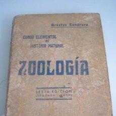 Libros antiguos: CURSO ELEMENTAL DE HISTORIA NATURAL - ZOOLOGÍA - ORESTES CENDRERO CURIEL - SANTANDER 1932. Lote 55898745