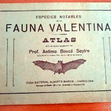 Libros antiguos: ESPECIES NOTABLES ATLAS FAUNA VALENTINA ANTIMO BOSCÁ SEYTRE SOBRE 1916. Lote 56030350
