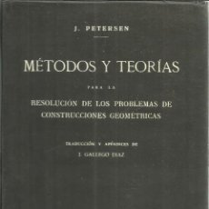Libros antiguos: MÉTODOS Y TEORÍAS. J. PETERSEN. EDITORIAL ATLÁNTICO. MADRID. Lote 56060254