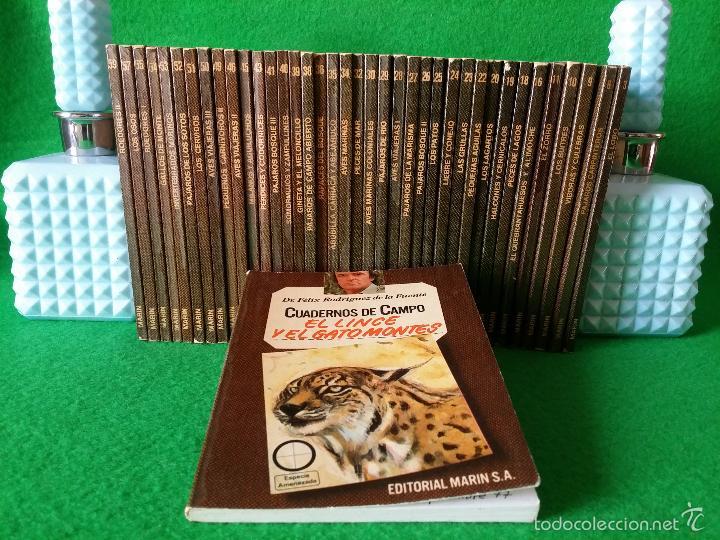39 CUADERNOS DE CAMPO FELIX RODRIGUEZ DE LA FUENTE EDITORIAL MARIN S.A. (Libros Antiguos, Raros y Curiosos - Ciencias, Manuales y Oficios - Bilogía y Botánica)