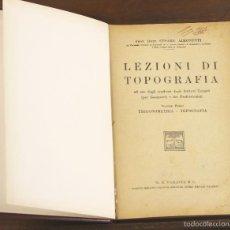 Libros antiguos: 7460 - LEZIONI DI TOPOGRAFÍA. 3 VOLUM(VER DESCRIP). C. AIMONETTI. EDI. ULRICO. 1943-45.. Lote 56481676