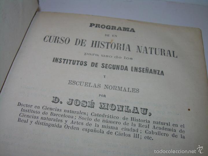 Libros antiguos: LIBRO TAPAS PIEL...HISTORIA NATURAL....ZOOLOGIA,BOTANICA,MINERALOGIA,ZOOGRAFIA.ETC..AÑO 1.870 - Foto 3 - 56514916