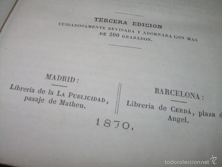 Libros antiguos: LIBRO TAPAS PIEL...HISTORIA NATURAL....ZOOLOGIA,BOTANICA,MINERALOGIA,ZOOGRAFIA.ETC..AÑO 1.870 - Foto 4 - 56514916