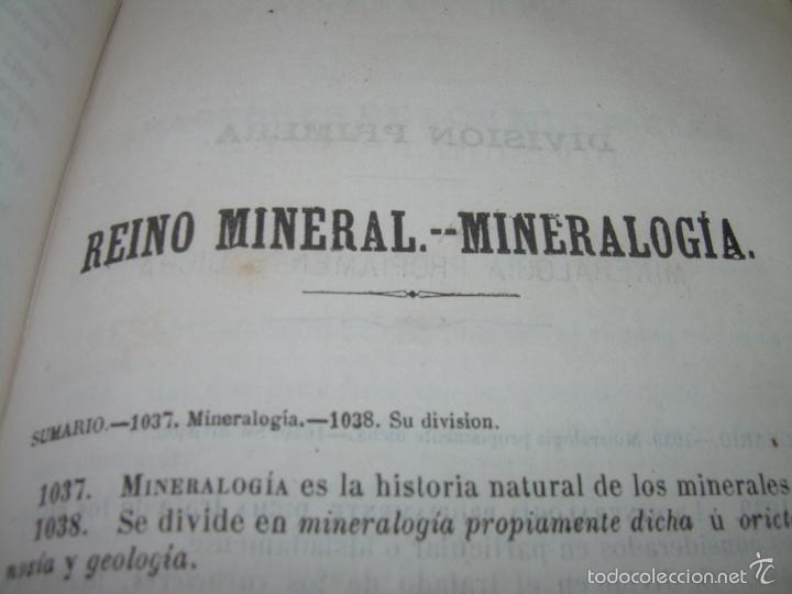 Libros antiguos: LIBRO TAPAS PIEL...HISTORIA NATURAL....ZOOLOGIA,BOTANICA,MINERALOGIA,ZOOGRAFIA.ETC..AÑO 1.870 - Foto 19 - 56514916