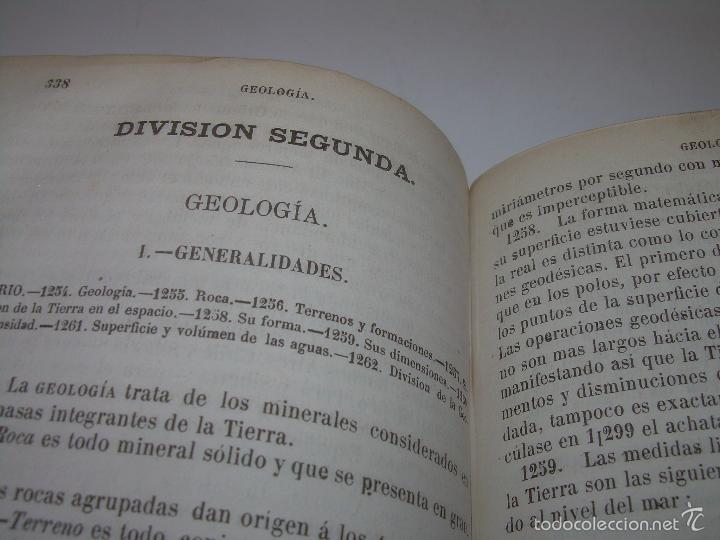 Libros antiguos: LIBRO TAPAS PIEL...HISTORIA NATURAL....ZOOLOGIA,BOTANICA,MINERALOGIA,ZOOGRAFIA.ETC..AÑO 1.870 - Foto 22 - 56514916