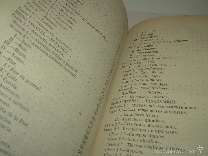 Libros antiguos: LIBRO TAPAS PIEL...HISTORIA NATURAL....ZOOLOGIA,BOTANICA,MINERALOGIA,ZOOGRAFIA.ETC..AÑO 1.870 - Foto 24 - 56514916