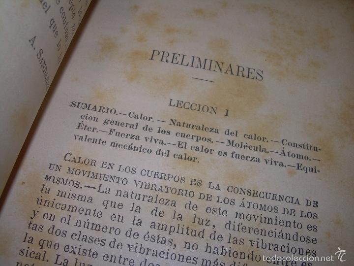 Libros antiguos: LIBRO TAPAS DE PIEL.......APLICACIONES DEL CALOR....AÑO...1.885........CON GRABADOS. - Foto 5 - 56821476