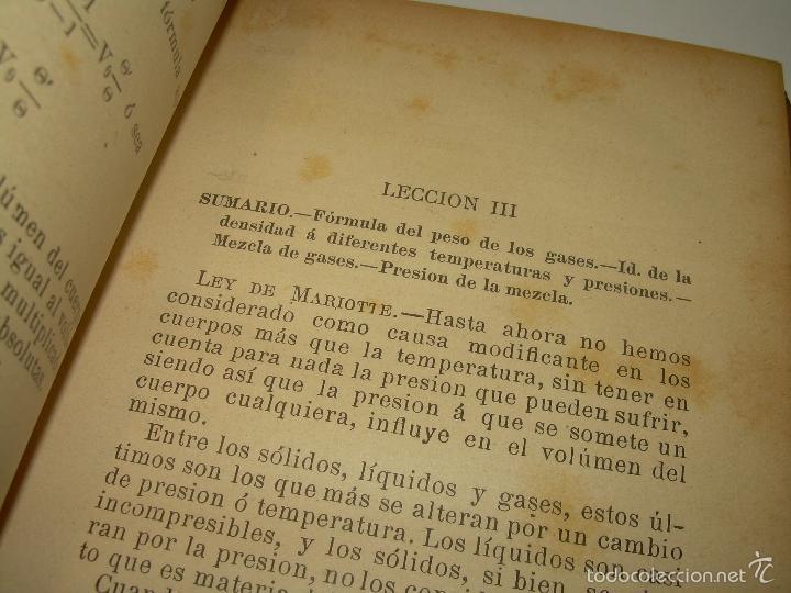Libros antiguos: LIBRO TAPAS DE PIEL.......APLICACIONES DEL CALOR....AÑO...1.885........CON GRABADOS. - Foto 6 - 56821476