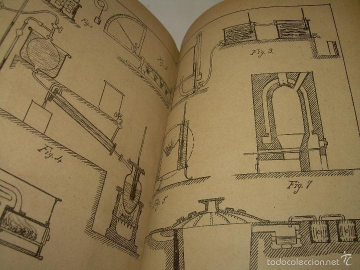 Libros antiguos: LIBRO TAPAS DE PIEL.......APLICACIONES DEL CALOR....AÑO...1.885........CON GRABADOS. - Foto 8 - 56821476