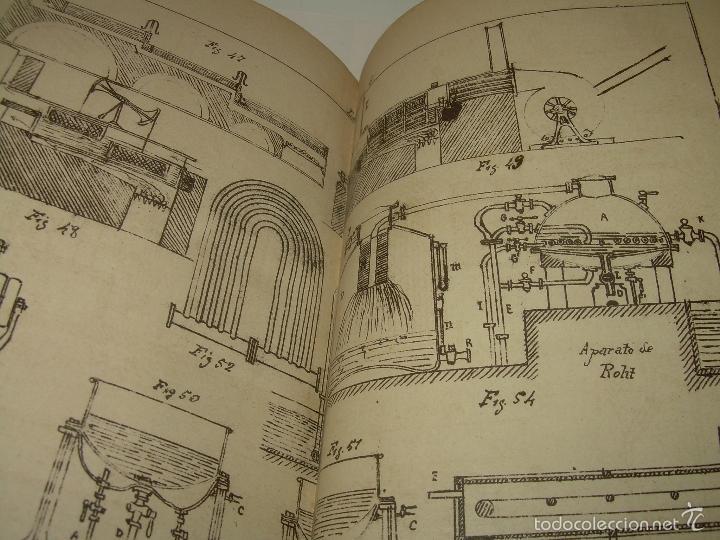 Libros antiguos: LIBRO TAPAS DE PIEL.......APLICACIONES DEL CALOR....AÑO...1.885........CON GRABADOS. - Foto 10 - 56821476