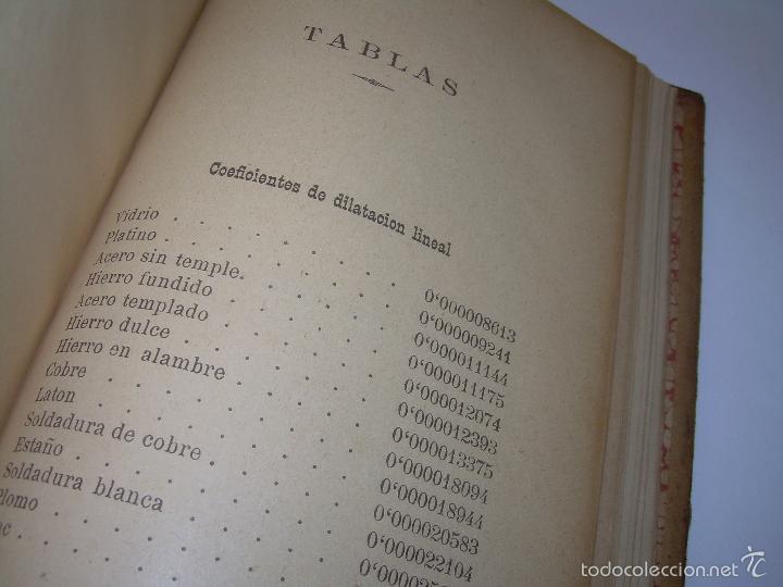 Libros antiguos: LIBRO TAPAS DE PIEL.......APLICACIONES DEL CALOR....AÑO...1.885........CON GRABADOS. - Foto 12 - 56821476