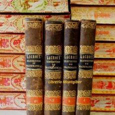 Libros antiguos: VOL I : TRATADO ELEMENTAL DE ARITMÉTICA - VOL II : CURSO COMPLETO ELEMENTAL DE MATEMATICAS PURAS .... Lote 57271675