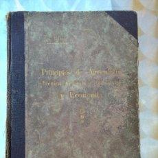 Libros antiguos: PRINCIPIOS DE AGRICULTURA. TÉCNICA AGRÍCOLA E INDUSTRIAL Y ECONÓMICA. BERTOLOME DARDER. 1935. Lote 57320903
