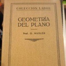 Libros antiguos: GEOMETRÍA DEL PLANO (BARCELONA, 1927). Lote 57346518
