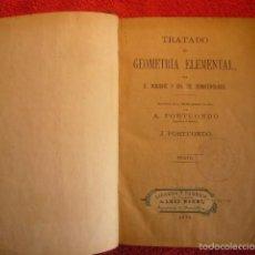 Libros antiguos: E. ROUCHE - CH. COMBEROUSSE: - TRATADO DE GEOMETRIA ELEMENTAL - (MADRID, 1878). Lote 57381462