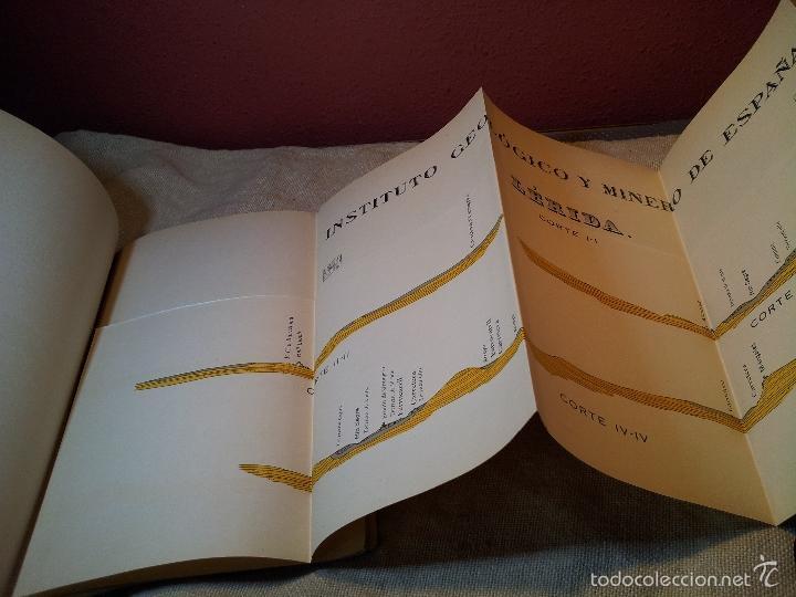 Libros antiguos: LERIDA ,memoria explicativa de la hoja nº 388,mapa geologico, 1934 - Foto 4 - 57522710