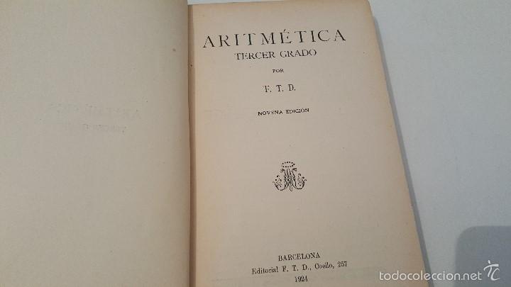 Libros antiguos: ARITMETICA 3º GRADO 1924 - Foto 3 - 57545547
