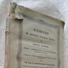 Libros antiguos: ZOOLOGIA AÑO 1846 ELEMENTOS DE HISTORIA NATURAL MEDICA POR ACHILLES RICHARD 496 PAG. Lote 57547024