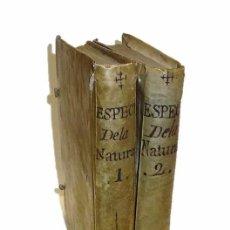 Libros antiguos: ABAD M.PLUCHE, 1.771 ESPECTACULO DE LA NATURALEZA- DOS LIBROS PERGAMINO BOTANICA-INSECTOS-ANIMALES. Lote 57555716
