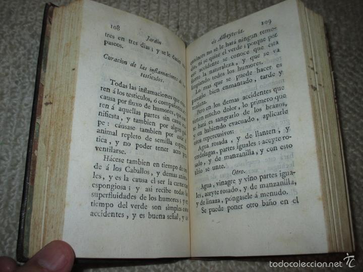 Libros antiguos: Jardin de Albeytería, Por Angel Isidro Sandoval, Imprenta Vda. de Ibarra, 1792, caballos - Foto 8 - 57593793