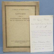 Libros antiguos: 1930.- ESTUDIO SOBRE LA VEGETACIÓN FORESTAL DE LA PROVINCIA DE CÁDIZ. VV.AA. ILUSTRADO Y DEPLEGABLES. Lote 57683332
